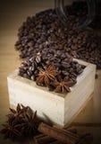 咖啡成份 免版税库存图片