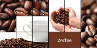 咖啡拼贴画 库存图片