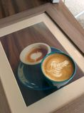 咖啡拿铁艺术 免版税图库摄影