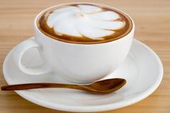 咖啡拿铁艺术 图库摄影