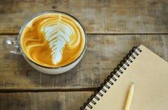咖啡拿铁艺术 库存照片