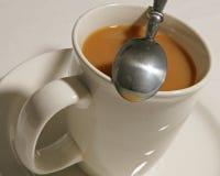 咖啡提取了乳脂 库存图片