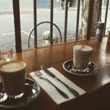 咖啡文化墨尔本 免版税库存照片