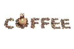 咖啡文本 免版税库存照片