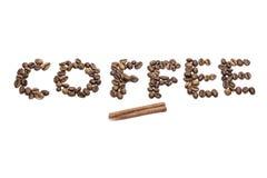 咖啡文本 库存图片