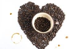 咖啡斑点 免版税库存照片