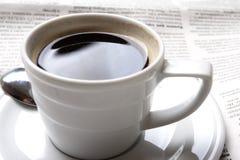 咖啡新闻 免版税库存图片