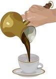 咖啡新鲜的火鸡 向量例证