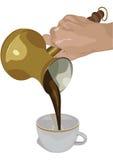 咖啡新鲜的火鸡 皇族释放例证