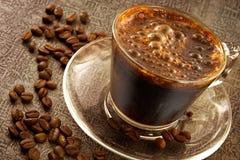 咖啡新鲜的热甜点 库存图片