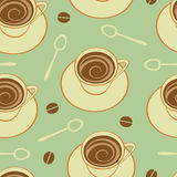 咖啡无缝的模式 免版税库存图片