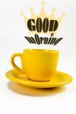 咖啡早晨好 免版税库存照片