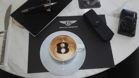 咖啡早晨好 免版税库存图片