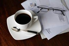 咖啡早晨 免版税库存照片