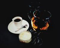 咖啡早餐咖啡因杯子咖啡馆酒 免版税库存照片