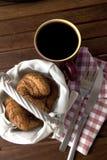 咖啡早餐 库存照片