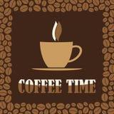 咖啡时间或断裂设计卡片 库存照片