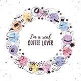 咖啡时间海报 免版税库存图片
