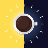 咖啡时间day&night 图库摄影