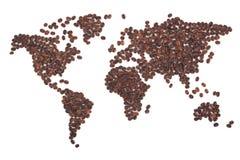 咖啡映射 图库摄影