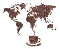 咖啡映射 免版税图库摄影