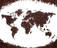 咖啡映射 免版税库存照片