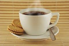 咖啡曲奇饼托起向量 库存照片