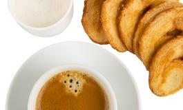 咖啡曲奇饼详细资料 免版税库存图片