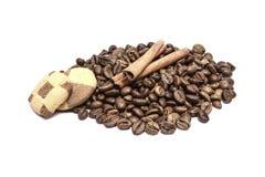 咖啡曲奇饼 免版税库存图片