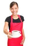 咖啡服务女服务员 免版税图库摄影