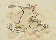 咖啡服务 仍然被传统化的生活 皇族释放例证