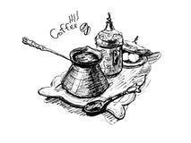 咖啡服务 皇族释放例证