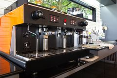 咖啡机器。 免版税库存图片