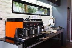 咖啡机器。 库存照片
