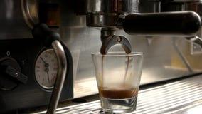 咖啡机器倒浓咖啡 股票录像