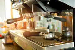 咖啡机器制造商 免版税库存照片