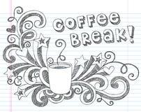 咖啡杯乱画传染媒介例证 免版税库存图片