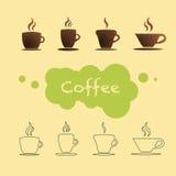 咖啡杯传染媒介 库存照片