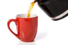 咖啡杯倾吐 免版税库存图片