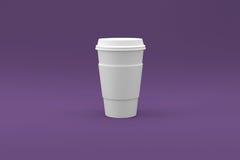咖啡杯准备好您的商标 免版税库存照片