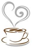 咖啡杯向量 免版税库存照片