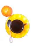 咖啡杯和蛋糕 免版税图库摄影