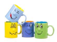 咖啡杯咧着嘴 免版税库存图片