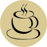 咖啡杯商标 向量例证