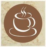 咖啡杯商标 皇族释放例证