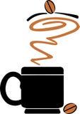 咖啡杯商标 图库摄影