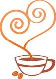咖啡杯商标 免版税库存照片