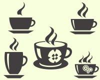 咖啡杯塑造茶 库存图片