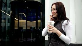 咖啡杯女孩 影视素材