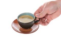 咖啡杯平面图 免版税库存图片